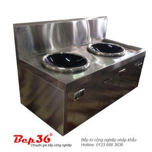 Bếp từ công nghiệp 2 lò mặt kính lõm VH15KLKx2-IH52