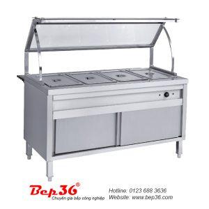 Bàn dưỡng nóng thức ăn 4 khay TGN-4K13