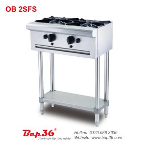 Bếp âu 2 họng Berjaya OB 2SFS (chân cao)