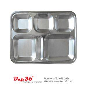 Khay cơm inox 5 ô KC06
