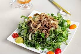 Gỏi rau má thịt bò