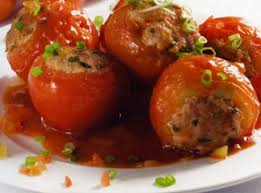 Cà chua nhồi thịt chiên