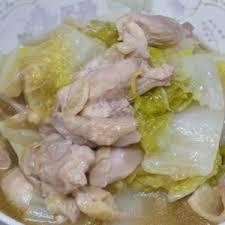 Cải thảo xào thịt gà
