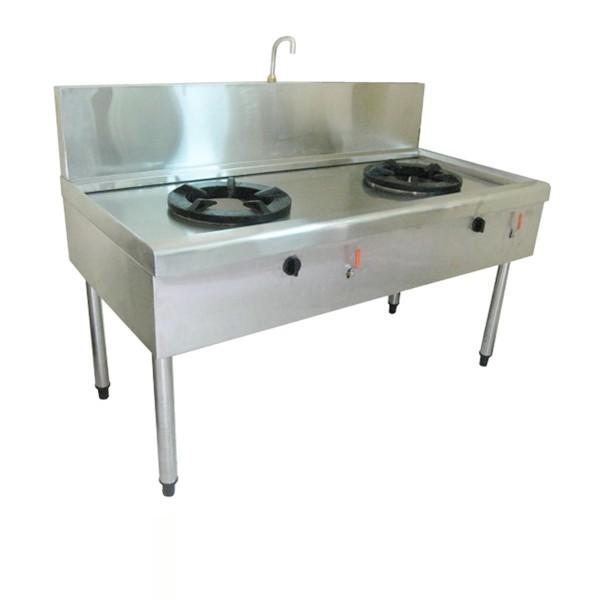 Bếp á có quạt thổi 2 họng loại tiết giảm bấu nước nhằm tiết kiệm diện tích cũng như tối giảm chi phí