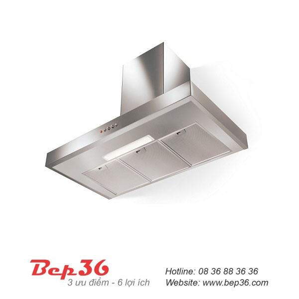 tum hút mùi inox thương hiệu Bếp 36 có kiểu dáng hiện đại, thích hợp với hầu hết các loại không gian bếp hiện nay