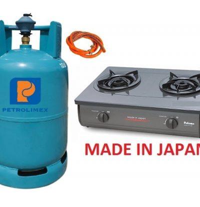 Bộ bếp gas Paloma PAJ-22B nhập khẩu Nhật